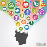 Thinking Head Icon Stock Photography