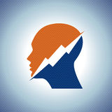 Thinking Head a lightning Vector illustration . Royalty Free Stock Photo