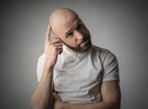 Thinking head stock image