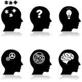 Thinking heads Stock Photo