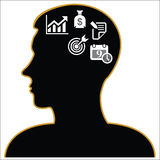 Thinking Heads business Icons. vector illustration  Royalty Free Stock Image