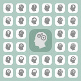 Thinking heads icons Royalty Free Stock Photos