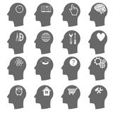 Thinking Heads Icons. vector Stock Images