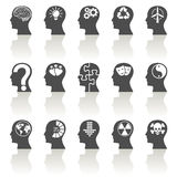 Thinking Heads Icons Stock Photos