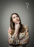 Thinking. Hesitation. Stock Images