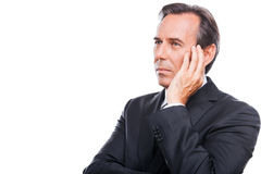 Thinking about his business future. Royalty Free Stock Photos