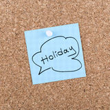 Thinking About Holiday in Office Royalty Free Stock Image