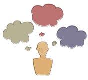 Thinking icon cartoon Stock Photo