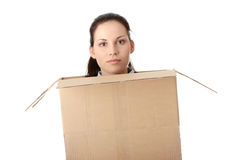 Thinking inside a box Stock Photography