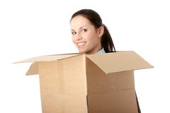 Thinking inside a box Royalty Free Stock Photography