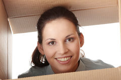 Thinking inside a box Stock Image