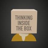 Thinking inside the box Royalty Free Stock Photo