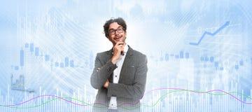 Thinking investor man. royalty free stock photos