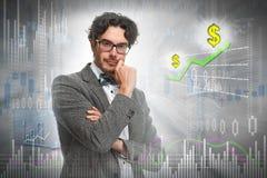 Thinking investor man. stock images