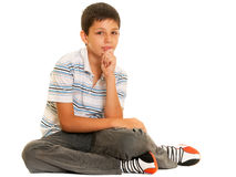 Thinking kid Royalty Free Stock Images