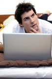 Thinking laptop? Stock Image