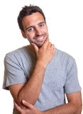 Thinking latin man is looking to you Royalty Free Stock Photo