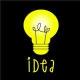 Thinking light idea Royalty Free Stock Photos