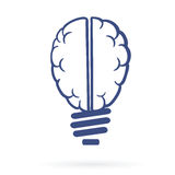Thinking lightbulb web icon Royalty Free Stock Photography