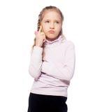 Thinking little girl Royalty Free Stock Photos