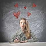 Thinking of Love Stock Photography