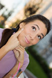 Thinking lovely woman Royalty Free Stock Images