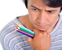 Man thinking.  Stock Image