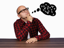 Thinking man Royalty Free Stock Photo