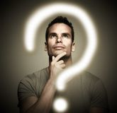 Thinking man. Royalty Free Stock Photos