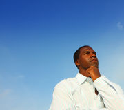 Thinking Man Stock Image