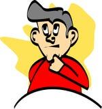 Thinking man. Illustration Royalty Free Stock Image