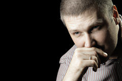 Thinking man Stock Images