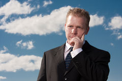 Thinking Man Royalty Free Stock Photos