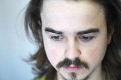 Thinking man with beard Stock Image