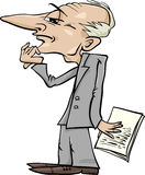 Thinking man cartoon illustration Stock Photos