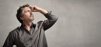 Thinking man Stock Photography