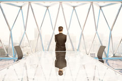 Thinking man in conference room Stock Photo