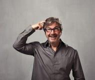 Thinking man happy Stock Photography
