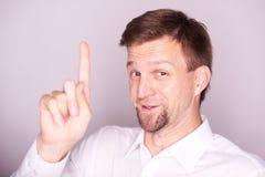 Thinking man has idea royalty free stock photography