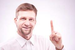 Thinking man has idea royalty free stock photos