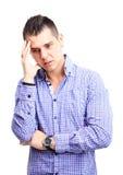 Thinking man isolated on white background. Stock Images