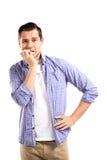 Thinking man isolated on white background Royalty Free Stock Image
