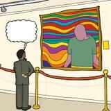 Thinking Man Looking at Art Royalty Free Stock Photo