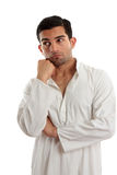 Thinking man looking sideways right Royalty Free Stock Image
