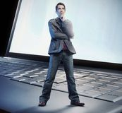 Thinking man standing Stock Photos