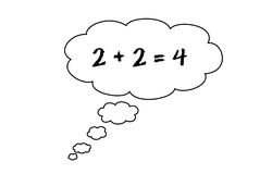 Thinking of math Stock Images