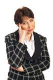 Thinking mature business woman Royalty Free Stock Photo