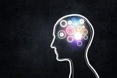 Thinking mechanism Royalty Free Stock Image