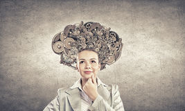 Thinking mechanisms Royalty Free Stock Photo