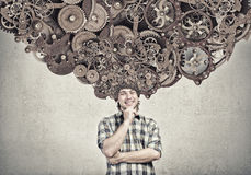 Thinking mechanisms Royalty Free Stock Photos